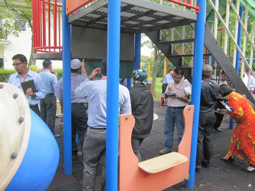 CPSI candidates make initial visit local neighborhood play area to record assessment of the environment.