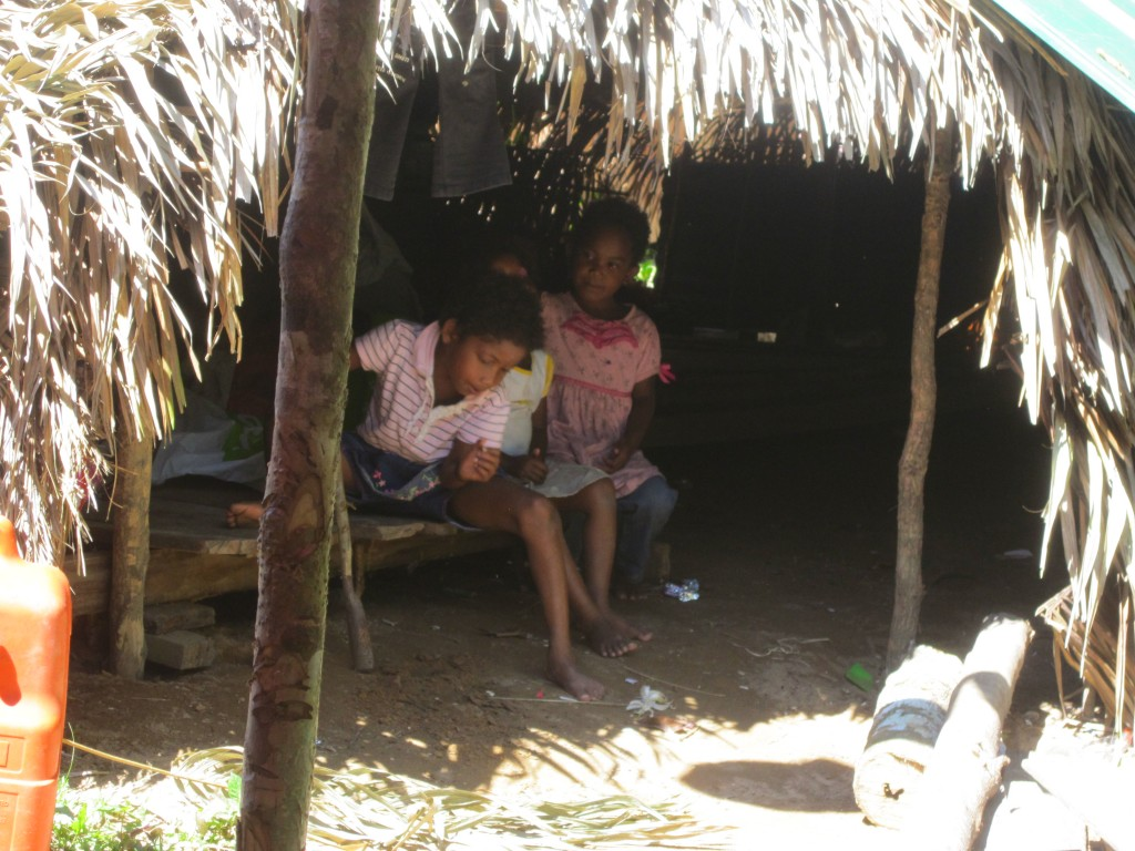 Two Orang Asli Children in their home
